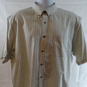 Cabelas Mens Shirt Short Sleeve Button Down XLT